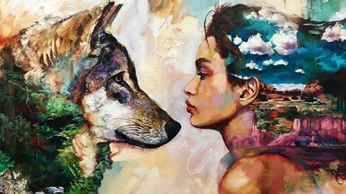mulher e o lobo